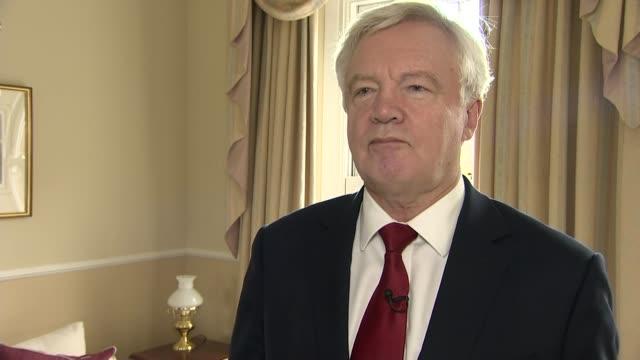 David Davis interview ENGLAND London INT David Davis MP interview re Brexit negotiations SOT
