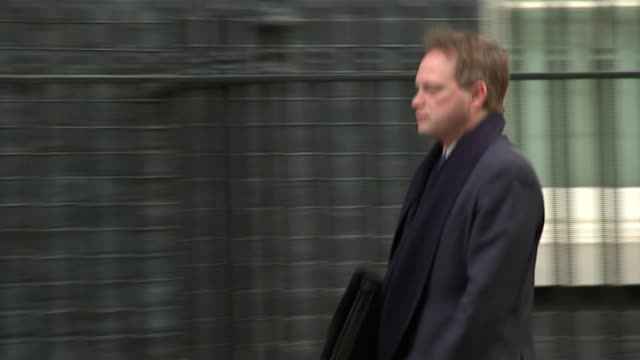 david lidington tells conservatives to stop infighting r27011504 / 2712015 downing street ext grant shapps mp arriving at number 10 end lib - grant shapps stock videos and b-roll footage