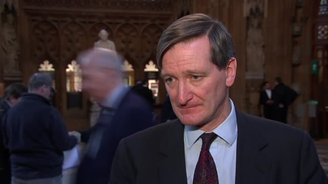 dominic grieve interview england london westminster central lobby int dominic grieve mp interview sot on brexit amendments / supporting a second... - dominic grieve stock videos and b-roll footage