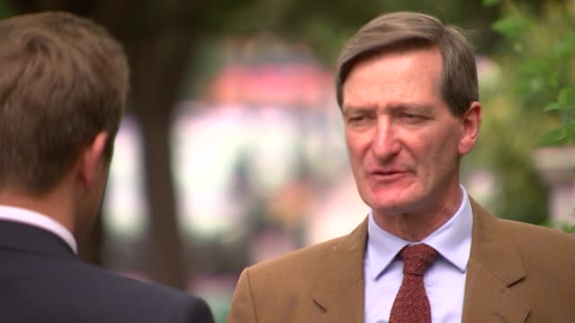 dominic raab says britain won't pay divorce bill in the event of no deal england london ext dominic grieve mp interview sot - dominic grieve stock videos and b-roll footage