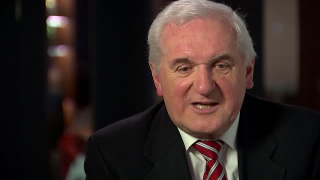 donald tusk says 'special place in hell' for those who promoted brexit without plan republic of ireland int bobby mcdonagh interview sot bertie ahern... - バーティ アハーン点の映像素材/bロール