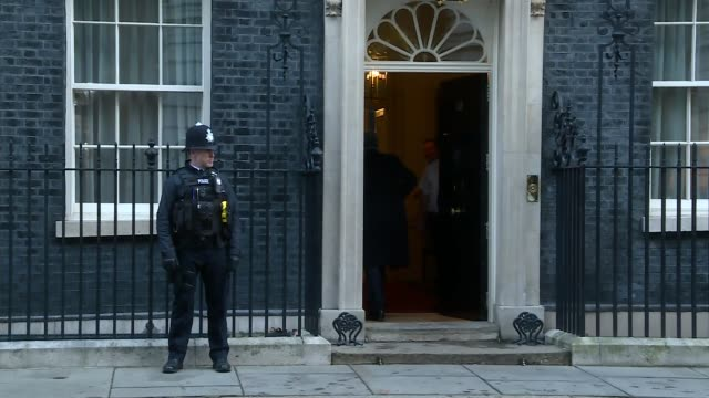 downing street cabinet arrivals england london downing street ext stephen barclay mp arriving / damian hinds mp arriving / david mundell mp arriving... - damian hinds stock videos and b-roll footage