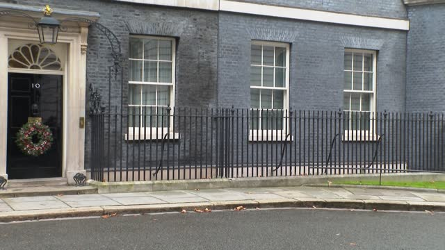 downing street cabinet arrivals; england: london: westminster: downing street: ext gvs ministers arriving gv boris johnson mp along from no 10... - ben wallace stock videos & royalty-free footage