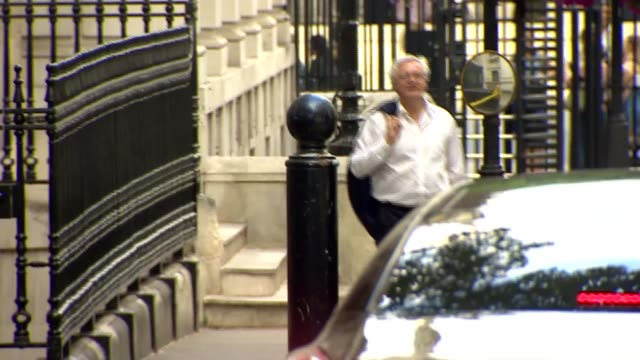downing street evening departure of cabinet members england london downing street no10 ext esther mcvey mp departing no10 / police motorcyclists at... - liam fox politician stock videos and b-roll footage