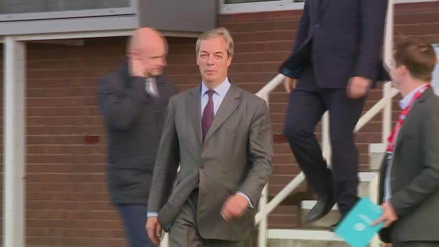 downing street rejects brexit party electoral pact offer england county durham ext nigel farage mep along - nigel farage stock videos & royalty-free footage