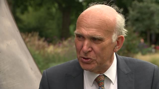 Draft of Government plans for immigration leaked from Home Office ENGLAND London Westminster EXT Reporter to camera Sir Vince Cable MP interview SOT...