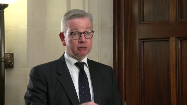 ambassadors give 'green light' to post-brexit trade deal; england: london: int michael gove mp interview sot - traffic light stock videos & royalty-free footage