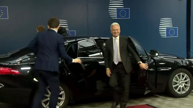 eu countries divided over draft withdrawal deal belgium brussels european council sir alan duncan mp interview belgium brussels european council ext... - alan duncan stock-videos und b-roll-filmmaterial