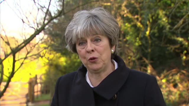 EU leaders agree talks can move on to phase two ENGLAND Berkshire Sonning DAY Theresa May MP interview SOT What people voted for last year was for us...