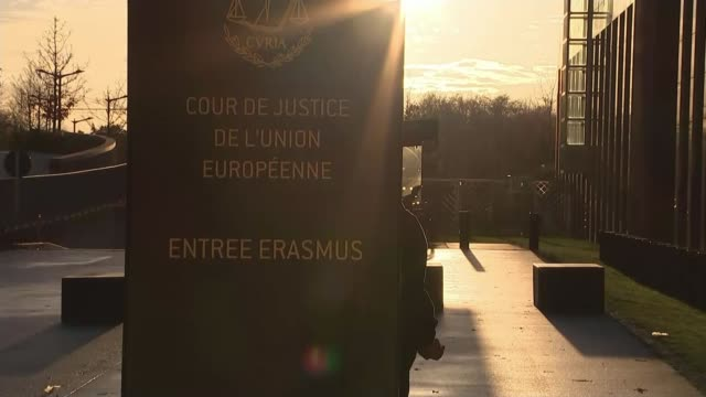 EU leaders respond to Theresa May's decision to delay UK Parliament's vote on Brexit deal LUXEMBOURG European Court of Justice EXT General view of...
