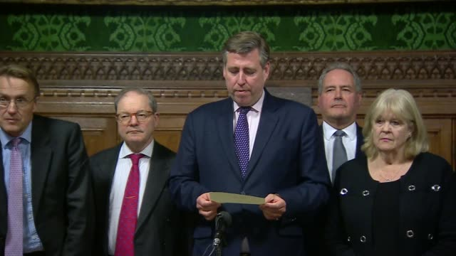 EU leaders say that withdrawal agreement is not open to further negotiation ENGLAND London Westminster Westminster Palace INT Sir Graham Brady MP...