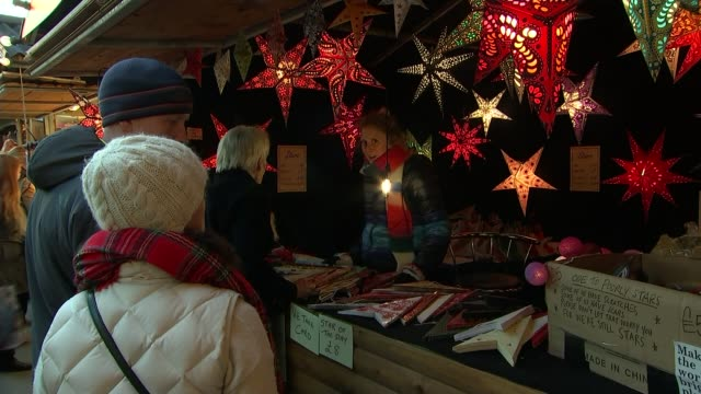 EU rebuffs May efforts to renegotiate withdrawal agreement raising the prospect of no deal ENGLAND London EXT Shoppers in Christmas market Sign...