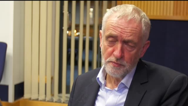 EU Withdrawal Bill committee stage Corbyn interview ENGLAND Birmingham The International Convention Centre INT Jeremy Corbyn MP interview SOT