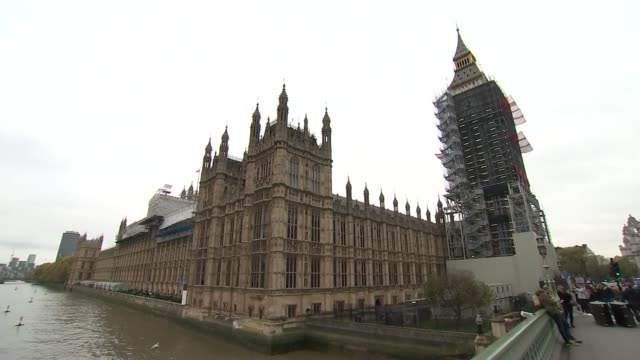 eu withdrawal bill committee stage government faces revolt on fixing departure date in law westminster ext palace of westminster pan lord lisvane... - channel 4 news stock videos & royalty-free footage