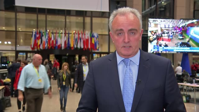 European leaders warn that May's successor will have to seek consensus BELGIUM Brussels Europa Building European Union summit INT Reporter to camera...