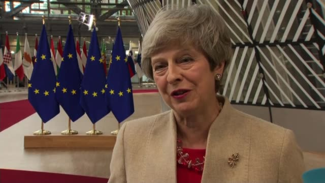 European leaders warn that May's successor will have to seek consensus BELGIUM Brussels Europa Building European Union summit INT Theresa May MP...