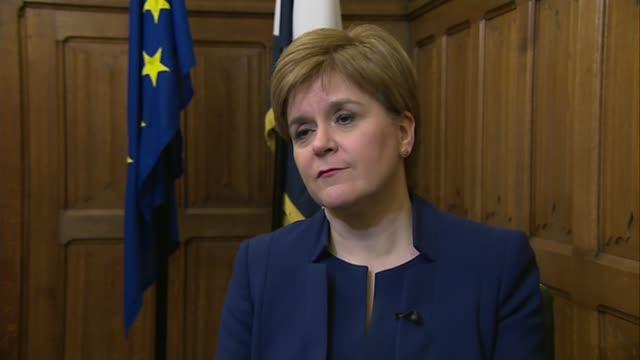 eurosceptic mps' coup against theresa may so far failing; england: london: westminster: ext nicola sturgeon msp interview sot. - on the latest draft... - nicola sturgeon stock videos & royalty-free footage