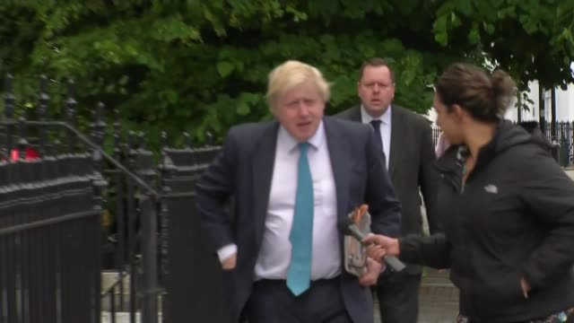 conservative party leadership fox and crabb are the first to announce candidacies london photography*** boris johnson mp from house and along street... - vine stock videos and b-roll footage