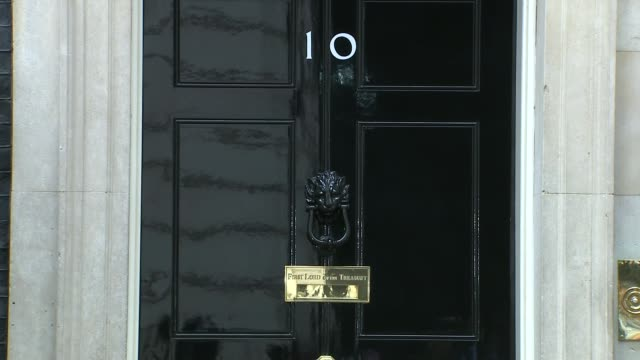 david cameron addresses commons / conservative party leadership england london downing street ext michael gove mp out of car and along liz truss mp... - priti patel stock-videos und b-roll-filmmaterial
