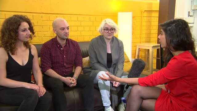 effects on the london art scene int roberto landi interview sot claudia roncallo interview sot judith georgi interview sot various shots reporter... - london symphony orchestra stock videos & royalty-free footage