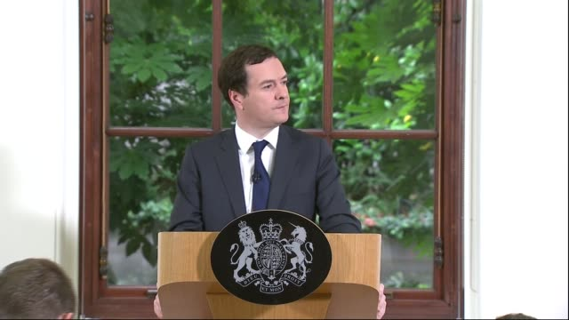 george osborne speech; george osborne answers questions sot - there will be an adjustment in our economy, not introducing an emergency budget until... - prime minister's questions stock videos & royalty-free footage