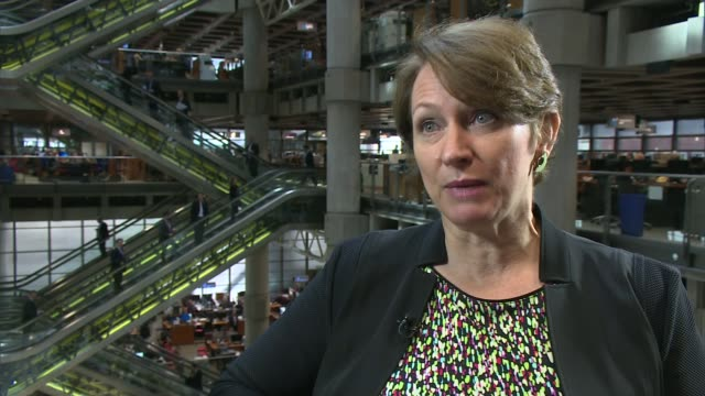 impact on global business for lloyd's of london reporter along with inga beale inga beale interview sot various of insurance brokers at desks workers... - impact stock videos and b-roll footage
