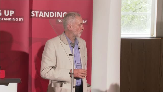 political developments jeremy corbyn mp speaking sot in the past 24 hours000 people have said they do not want the party to spend the next 2 months... - itv london tonight weekend点の映像素材/bロール