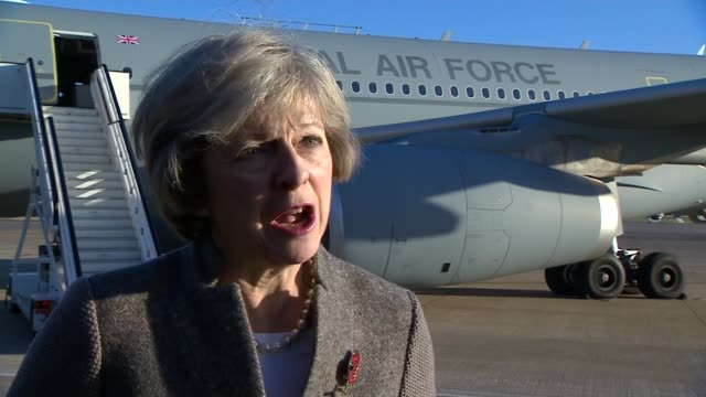 theresa may interview and heathrow departure for india business trip england london heathrow airport ext theresa may mp interview sot theresa may... - tjänstekvinna bildbanksvideor och videomaterial från bakom kulisserna