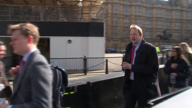 fears of no brexit drive tory hardliners towards supporting theresa may's deal / mps prepare for day of indicative votes england london westminster... - grant shapps stock videos and b-roll footage