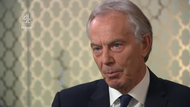 former prime minister tony blair interview; england: london: int tony blair interview sot. - of course i keep in touch with european leaders / no one... - trust stock videos & royalty-free footage