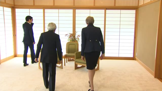 fox says uk will not be blackmailed as davis addresses businesses in the usa ****flash japan tokyo int various of british prime minister theresa may... - japanese royalty stock videos and b-roll footage