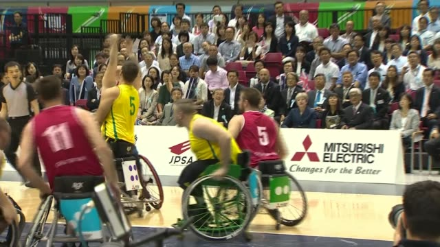fox says uk will not be blackmailed as davis addresses businesses in the usa japan tokyo int various of may watching the great britain wheelchair... - wheelchair basketball stock videos and b-roll footage