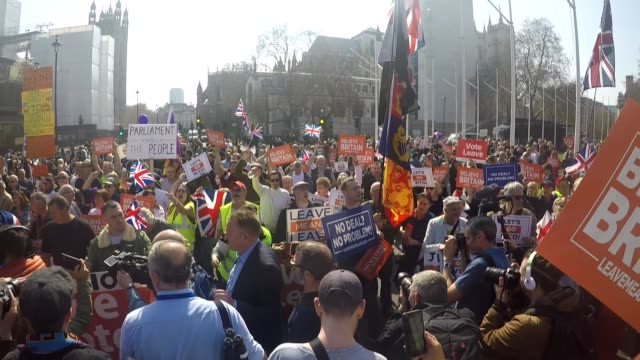 go pro footage of westminster protests england london westminster ext go pro footage of protesters gathered in parliament square mostly probrexit... - protestor stock videos & royalty-free footage