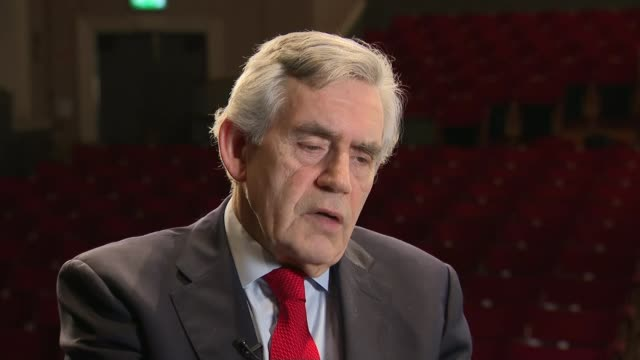 Gordon Brown calls for Parliament to extend Article 50 by a year SCOTLAND Edinburgh INT Gordon Brown interview SOT On why he wants Article 50 to be...