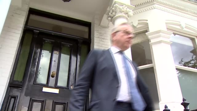 Government blames 'disgruntled' ministers for Operation Yellowhammer leak ENGLAND London EXT Michael Gove MP along from front door and interview SOT...