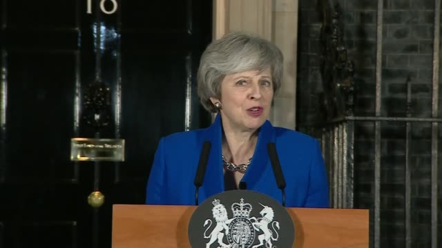 Government no confidence vote Theresa May statement ENGLAND London Downing Street Theresa May MP speech SOT This evening the government has won the...