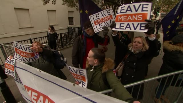 government split over direction for policy; england: london: westminster: ext leave means leave demonstration pro-eu protest with cards calling for a... - referendum stock videos & royalty-free footage