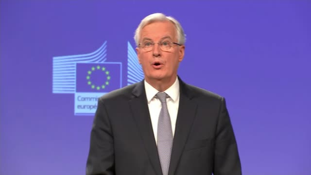 Government under pressure from MPs and Europe over plans Barnier press conference SOT by October 2018