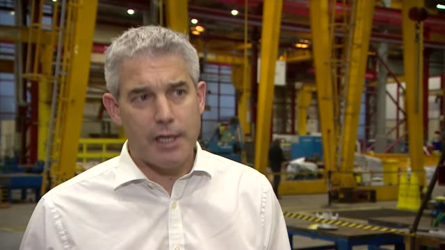 Government warns of the consequences of a nodeal Brexit ENGLAND Cambridgeshire Peterborough INT Stephen Barclay MP and others along in warehouse...