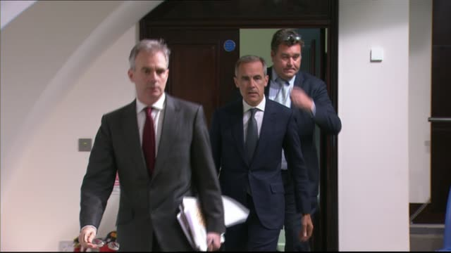 Governor of the Bank of England Mark Carney warns of sluggish UK economy Bank of England INT Mark Carney into quarterly Inflation Report press...