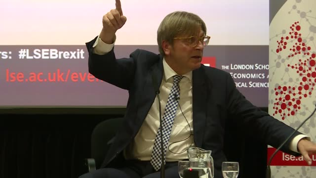 guy verhofstadt speech guy verhofstadt qa sot with professor kevin featherstone re future of the eu / verhofstadt given baseball cap and puts it on - end cap stock videos & royalty-free footage