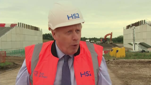 haulage companies demand meeting with ministers over brexit border concerns; england: west midlands: solihull: ext boris johnson mp interview excerpt... - spotted stock videos & royalty-free footage