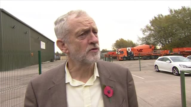 high court rules that government needs parliamentary approval to trigger article 50 england nottinghamshire broxtowe ext jeremy corbyn mp interview... - nottinghamshire stock videos & royalty-free footage