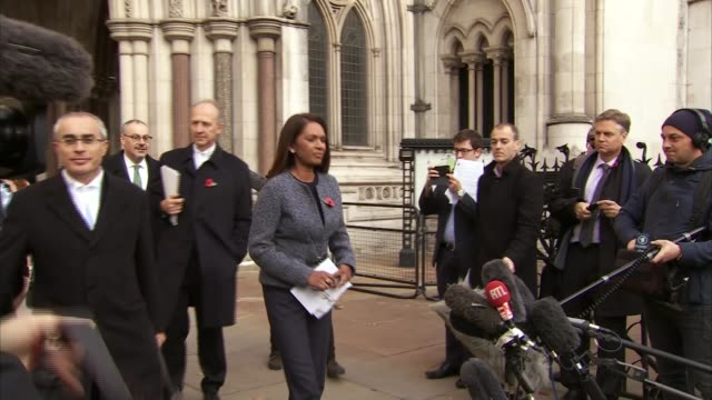 High Court rules that government needs parliamentary approval to trigger Article 50 ENGLAND London Royal Courts of Justice EXT Various shots of Gina...