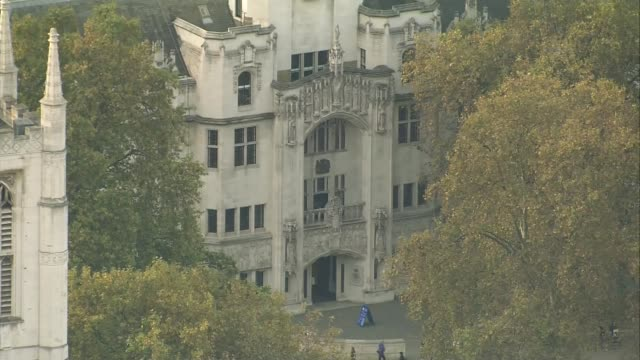 High Court rules that government needs parliamentary approval to trigger Article 50 AIR VIEW Supreme Court PULL OUT Houses of Parliament and Big Ben...