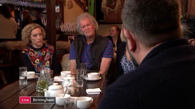 economic consequences of 'brexodus' england west midlands birmingham discussion featuring tim martin cerys johnson molly giles steven kapur aka... - キャシー・ニューマン点の映像素材/bロール