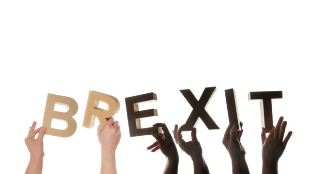 brexit in human hand results in exit - exit sign stock videos & royalty-free footage