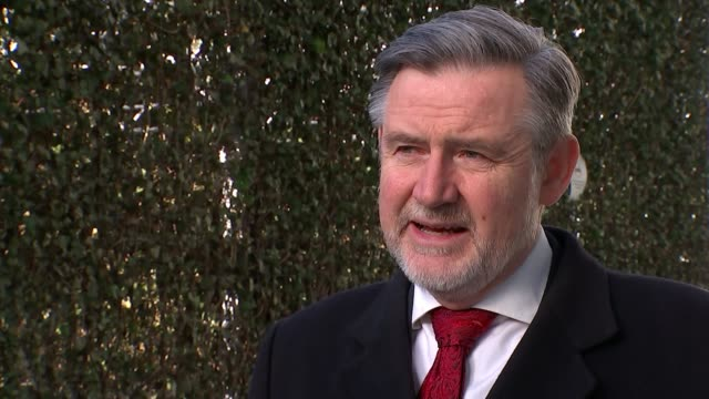 Irish government will veto trade talks unless it wins guarantees on border issue ENGLAND London EXT Barry Gardiner MP setup shot and interview SOT