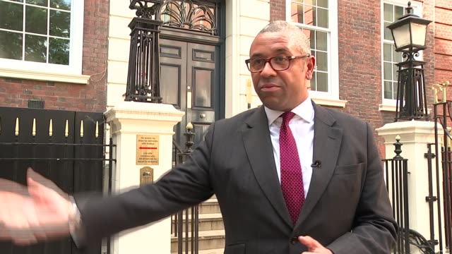 james cleverly interview re brexit england london gchq ext james cleverly mp interview re supporting the pm sot - mp stock-videos und b-roll-filmmaterial