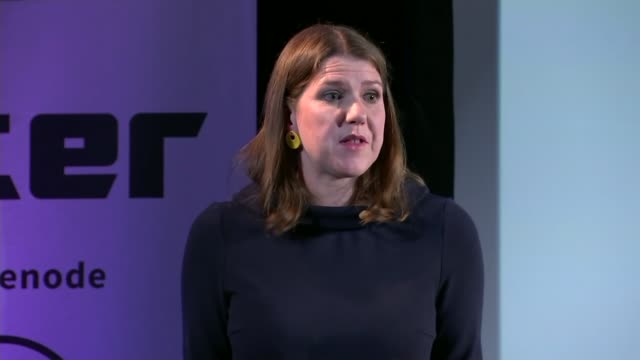 Jeremy Corbyn insists he should lead a temporary government amidst growing opposition 1582019 ENGLAND London INT Jo Swinson MP speaking SOT